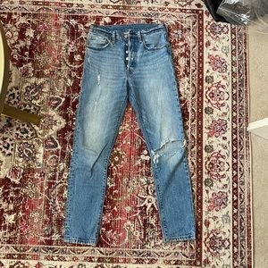 Levis 501 Skinny distressed jeans